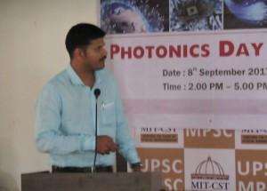 Mr. Amit Pisal explaining JP's work.
