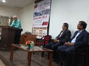 Mr. Ashok Saraf discussing how Photonics should grow in India.